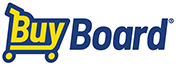 Log of BuyBoard name stylized with word 'Buy' in the shape of a shopping cart.